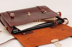 Leather Men Bag Ludena - Mens business bag - computer bag - leather messenger