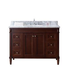 "Found it at Wayfair - Tiffany 48"" Single Bathroom Vanity Set with White Marble Top"