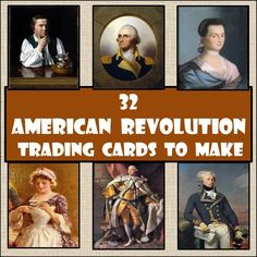 Starting a unit on the American Revolution? Here is a way your students can discover the famous historic figures who had a role in the American Revolution that allows them to find out some basic facts, but also allows them identify what they think is important about each person. Each trading card has the same format and allows students to gather a very brief snapshot of who these people were and what they did that contributed to the history of the American Revolution.