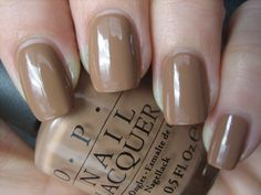 Great nude for medium-dark warm skin tones. San tan-tonio by OPI