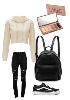 Back to school outfit by llamas16 on Polyvore featuring polyvore, fashion, style, Yves Saint Laurent, Vans, STELLA McCARTNEY, Urban Decay and clothing