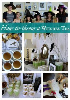 How to throw a Witches Tea Party! Free printables, decor, witches brew recipe, and more.