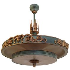Swedish Art Deco Chandelier | From a unique collection of antique and modern chandeliers and pendants  at http://www.1stdibs.com/furniture/lighting/chandeliers-pendant-lights/