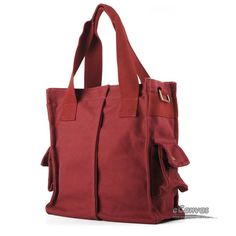 red Leisure canvas purses
