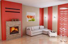 Projekt kominka na bazie wkładu firmy Hajduk #projekt #dom #kominek #ogrzewanie #fireplace #fireside #insert #hajduk