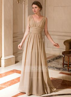 Mother of the Bride Dresses - $128.99 - A-Line/Princess V-neck Floor-Length Chiffon Mother of the Bride Dress With Ruffle (008024440) http://jjshouse.com/A-Line-Princess-V-Neck-Floor-Length-Chiffon-Mother-Of-The-Bride-Dress-With-Ruffle-008024440-g24440