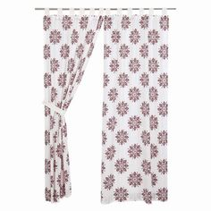 """Our Mariposa Fuchsia Panel Curtains 84"""" are whimsical and light. They will brighten up your room while still providing some privacy when needed. https://www.primitivestarquiltshop.com/collections/mariposa-fuchsia-curtains/products/mariposa-fuchsia-panel-curtains-84 #countrystylecurtains"""