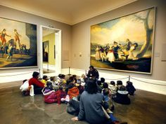 "Schoolchildren at the Museum, Photograph by Guido Cozzi/Atlantide, ""Schoolchildren sit for a lesson at Madrid's Prado art museum, which has paintings dating from the 12th century through the early 19th."""