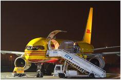 #Boeing 757 Cargo #DHL in #Airport #Gdansk ; photo: Sebastian Elijasz