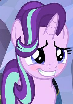 #1118422 - animated, blushing, cute, eye shimmer, glimmerbetes, grin, nervous, safe, screencap, smiling, spoiler:s06e01, starlight glimmer, the crystalling - Derpibooru - My Little Pony: Friendship is Magic Imageboard
