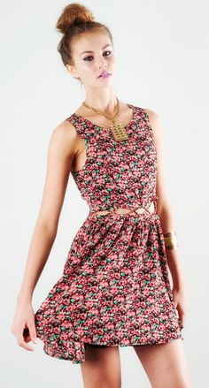 floral cut out dress / lucca couture
