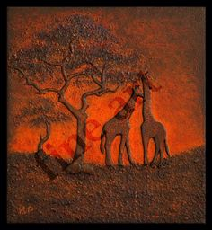 """ Sunrice in Africa "" 3D Mixed Media"