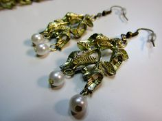 Antique Gold Vintage Bracelet Repurposed into by BonBonsandBaubles