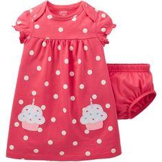 Child of Mine by Carter's Newborn Baby Girl Birthday Dress set