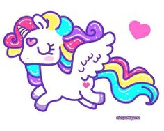 Pretty unicorn so colorful