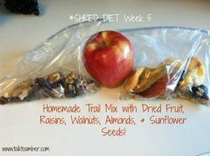 Make your own trail mix! Super easy and healthy snack. I did this for Week 5 of the SHRED Diet. Try it!