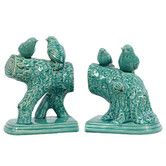 Found it at Wayfair - Ceramic Birds Standing on a Stump Gloss