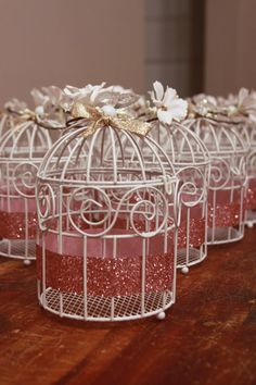 very similar to what we have  Mini Bird Cage Centerpiece  SPARKLE Tealight by ClassyConstance