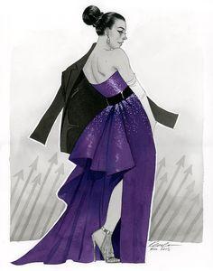 Kate Bishop ECCC 2015 commission sketch, by Kevin Wada