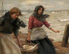John McGhie (1867 – 1952, Scottish) - Fresh from the Sea, c. 1911