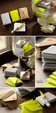 Post Wedding - These mini envelopes are adorable little ways to collect your wedding guests messages. Xx