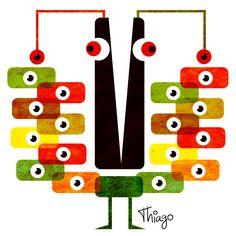 Olhos, olho, humor, ilustração, arte, design