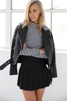 Pleated Mini Skirt   STYLEADDICT.COM.AU