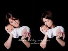 Basic Mom & Newborn on black