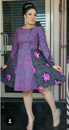 Plum Ankara dress