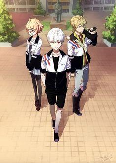 Cross Over - Kyoukai no Kanata : Mirai // Tokyo Ghoul : Kaneki // Zetsuen no Tempest : Mahiro  yaaasss yaaasss I like this a lot