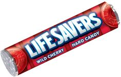 Lifesavers Wild Cherry gives you convenience and flavor all in one. Since 1912 Lifesavers have been freshening breath and tasting great. Life Savers Wild Cherry gives you the perfect amount of cherry flavor in a pocket sized roll. Surf And Turf, Mountain Dew, Peanut Butter Cups, Hard Candy, Pop Rocks, Delaware, Pop Tarts, Pick Me Up, Give It To Me