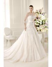 Glamoures Günstiges Hochzeitskleid aus Organza