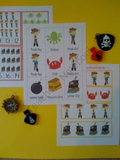 Pirate Set Printable from Fun Printables for Preschoolers on TeachersNotebook.com (11 pages)