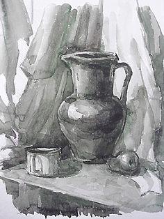 Drawing Pencil Art Still Life 55 Ideas Still Life Drawing, Painting Still Life, Still Life Art, Pastel Drawing, Painting & Drawing, Watercolor Paintings, Pencil Art, Pencil Drawings, Apple Sketch