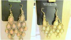 Toda Moda Dangle Chandlier Earrings Multi Oval Teardrop Beads #TodoModa #ChandelierDangle