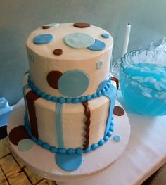 Baby shower for a baby boy Cake by Stephanie Dillon LS1 HyVee