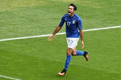 Eder of Italy celebrates after he scores his sides first goal during the UEFA EURO 2016 Group E match between Italy and Sweden at Stadium Municipal on June 17, 2016 in Toulouse, France.
