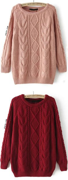 Cable Knit Loose Sweater