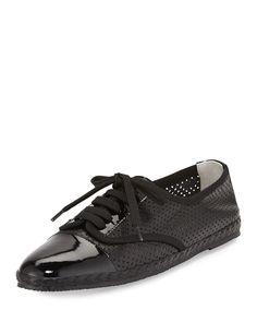 Logan Perforated Leather Sneaker, Black, Size: 41.0B/11.0B - Sesto Meucci