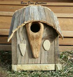 Viking inspired rustic birdhouse