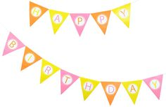 Happy Birthday Banner #freeprintable