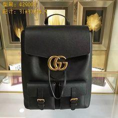 b0a86cd95cf2 Gucci 429007 Top Backpacks Black Original Leather