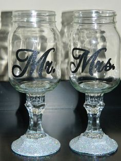 Mr and Mrs Redneck Wine Glasses  Can be made for by cindirellar, $30.00