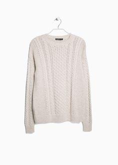 Bawełniany sweter w ósemki