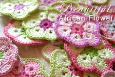 Crochet: African Flower / Paperweight Granny