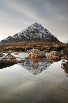 ✯ Buachaille Etive Mor reflection - Glen Etive, Glen Coe, Scotland
