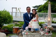 My ocean and watercolor theme wedding