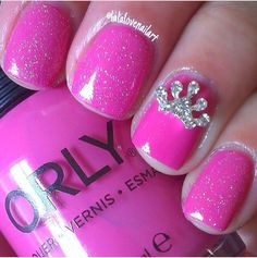 cool Princess nails perfect for your little girls birthday party!... - Pepino Nail Art Design