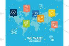 We Want Feedback Concept. . Marketing