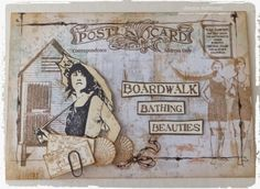Live The Dream : Jennie Atkinson Postcard Art with Artistic Outpost stamps